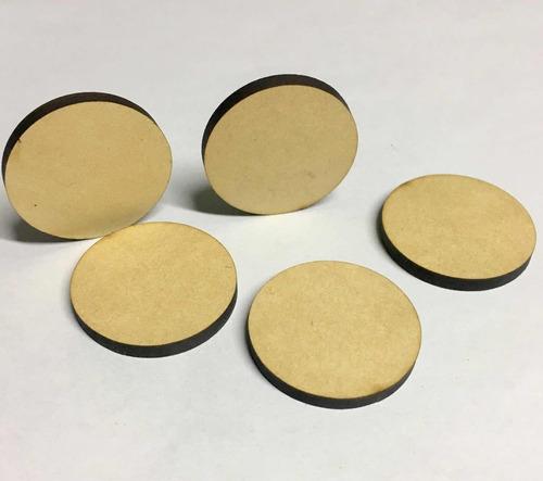 circulos madera mdf 3mm de 68mm de diametro - 5 unidades