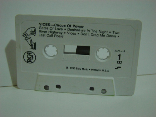 circus of power vices cassette  metallica kiss