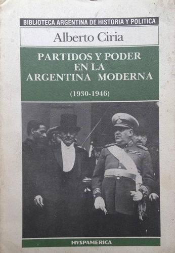 ciria, alberto - partidos y poder en la argentina moderna (1
