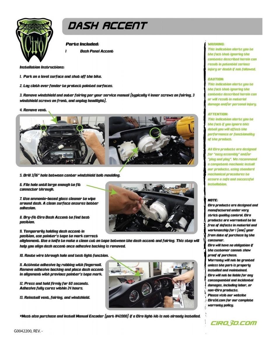 Chrome Fairing LED Light Vent Accent For Harley Electra Street Glide FLHTK FLHX