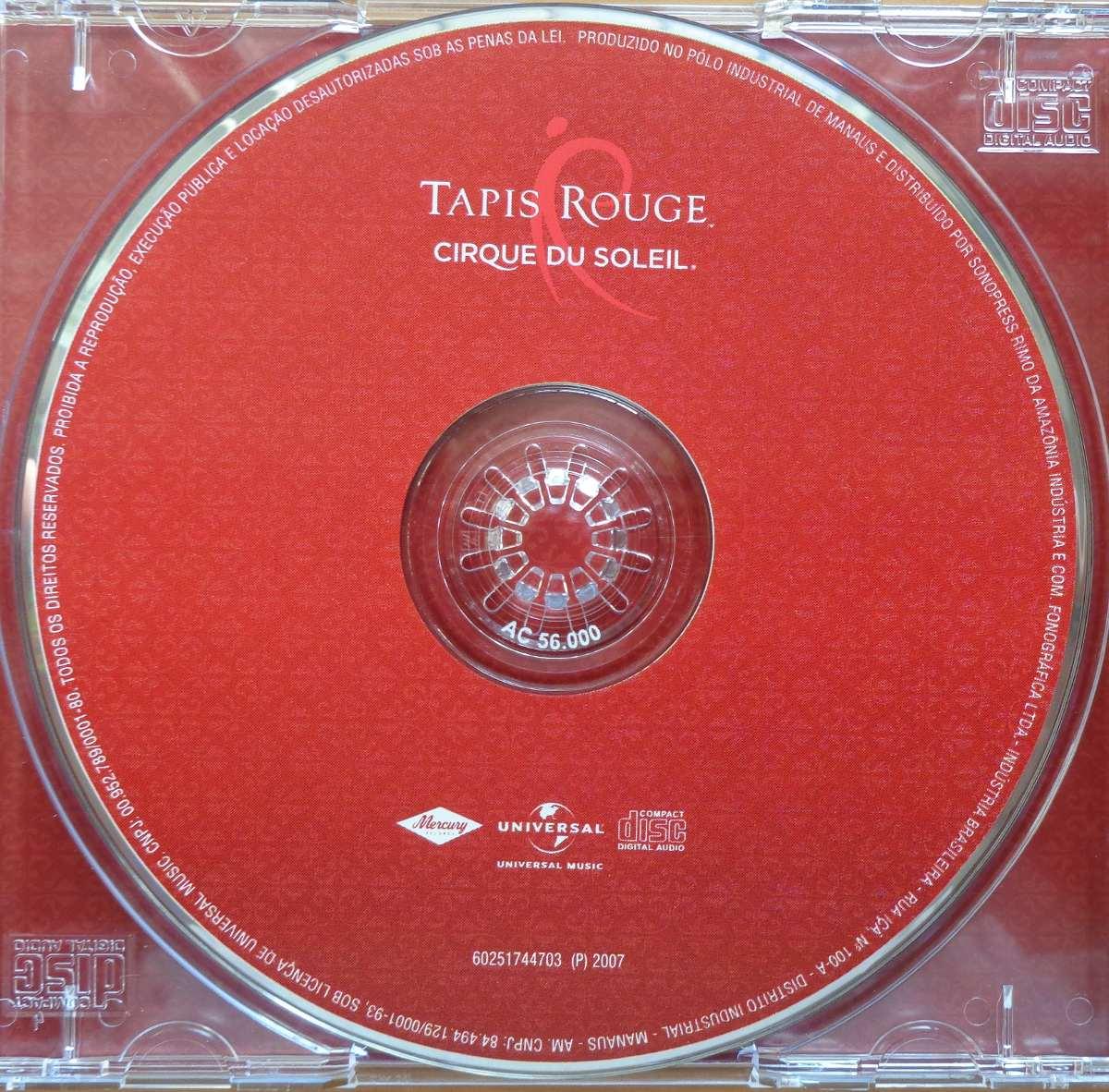 cirque du soleil cd nacional usado tapis 2007 r 25 00 em mercado livre