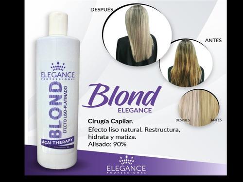 cirugia capilar 60ml elegance afro/ gold / botox / blonde