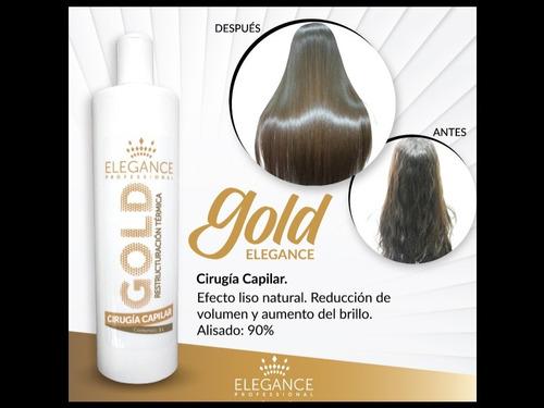 cirugia capilar elegance afro-gold liso 100%  (original)