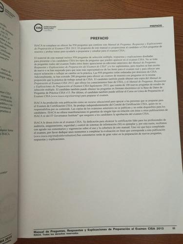 cisa - manual de preguntas, repuestas y explicaciones