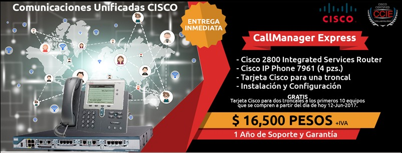 Cisco Call Manager Express Voip + Config - $ 10,000 00