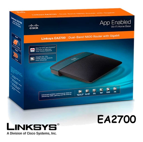 cisco linksys ea2700 router inalambrico 600mbps dual band