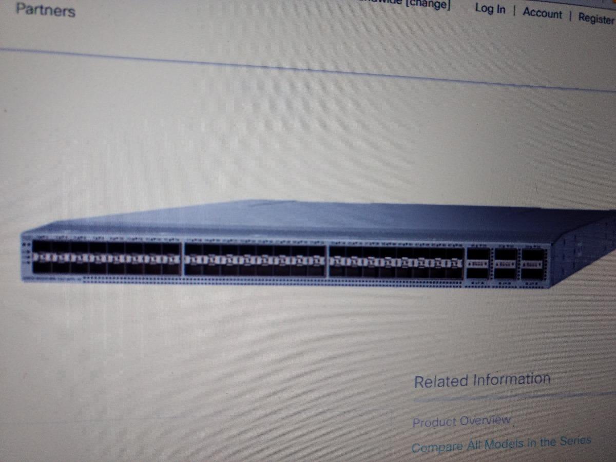 Cisco Switch N9k-c93180yc-ex 48-port 1/10g/25g Sfp E 6x100gb