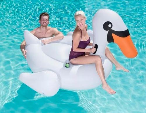 cisne grande inflable flotador pileta bestway 41109 full