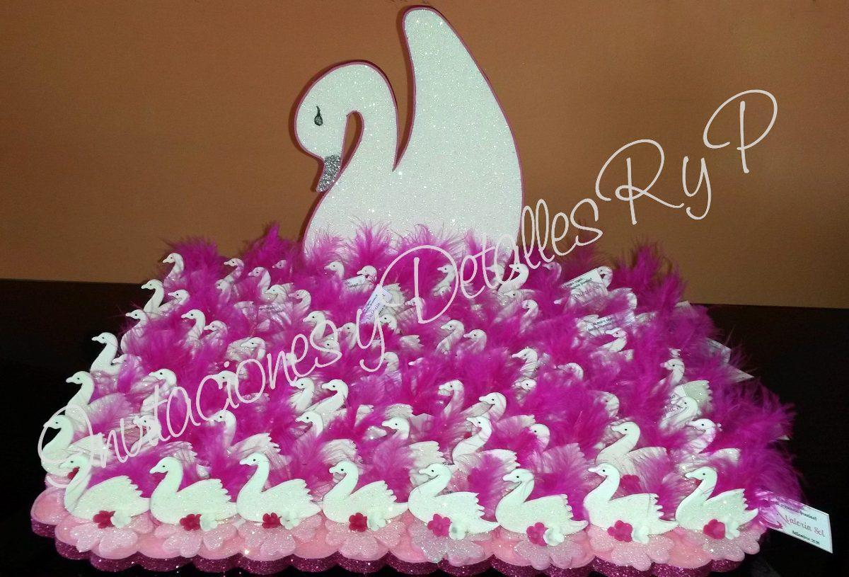 Cisne porta souvenirs centros de mesa 24 00 en for Centros de mesa faciles de hacer