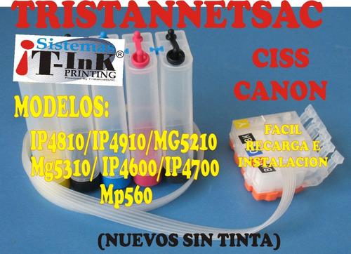 ciss canon mg5410/mg6210/mx721 cartuchos 150/151