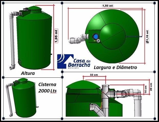 Cisterna 2000 litros agua chuva tambor tanque caixa r 1 Tanque de agua 1000 litros