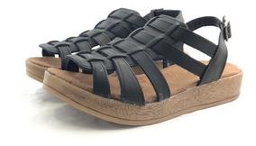 Juana Sandalia Mercado Cuero Citadina De Zapatos El vN8wmn0
