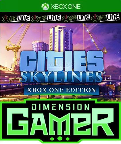 cities skyline - xbox one - no codigo off-line