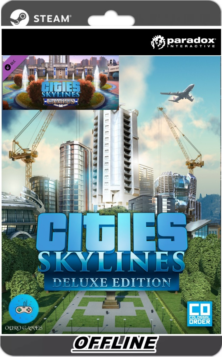 Cities Skylines Pc Original Steam + Dlc Campus + Workshop