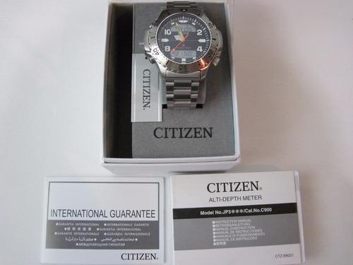 citizen aqualand aquamount c900 jp3040-59e em 12 x sem juros