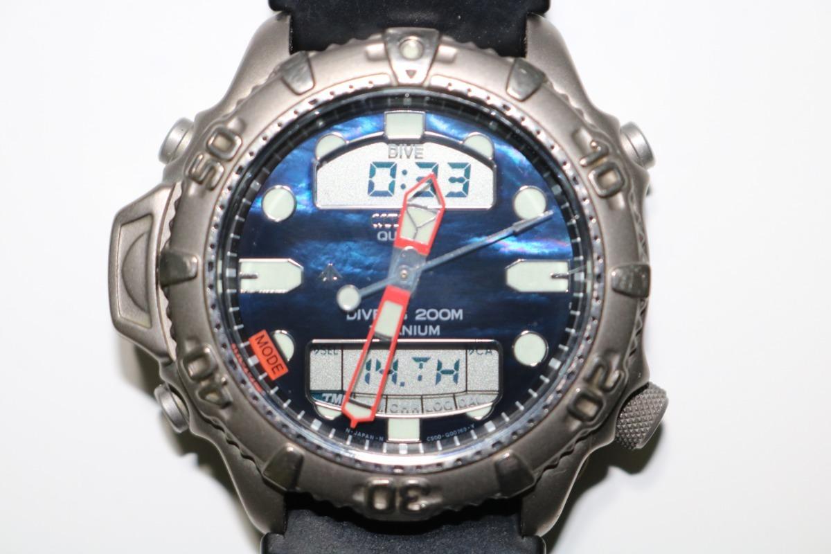 25542736cb5 Citizen aqualand duplex azul titanium promaster carregando zoom jpg  1200x800 Citizen aqualand duplex
