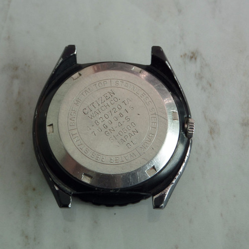 citizen  automatic 21 joyas   en acero pavonado   original