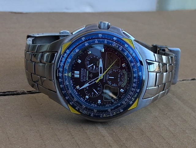 c3d36e7eb8f Citizen Blue Angels Titanium Skyhawk Jr3090-58m Eco Drive - R  1.260 ...