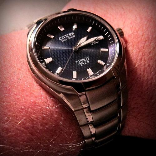 citizen bm7170-53l titanium sapphire blue dial