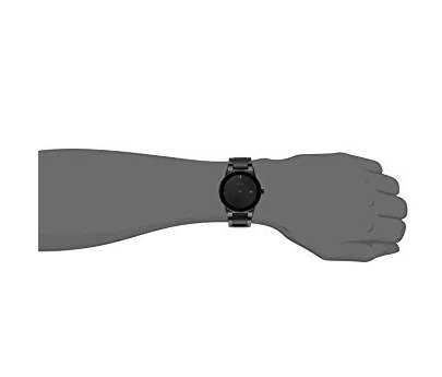 citizen eco drive axiom black dial black leather men's watch