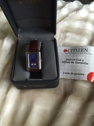 citizen eco drive quarzo acero y piel de ternera hermoso