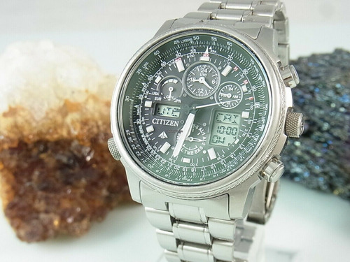 citizen navihawk jy8020-52e super titânio vidro safira u680