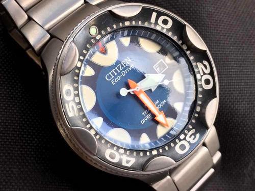 citizen orca eco-drive titanium divers 200m cal e168 japan