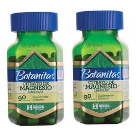 Citrato De Magnesio 2 Tarros 90 Cáps C/u Botanitas Medick