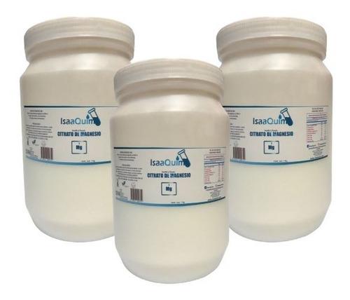 citrato de magnesio isaaquim 1 kg (3 pzs) envio full