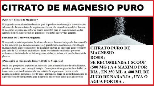 citrato de potasio 500 gr +  citrato de magnesio 500 gr