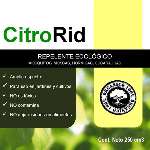 citro rid - repelente ecológico de amplio espectro x 250cc