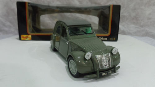 citroen 2cv 1952 - carro a escala 1/18