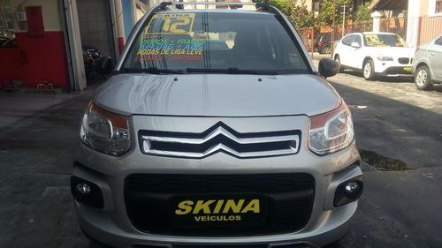 citroen aircross 1.6 flex glx 2012 prata completo/novo