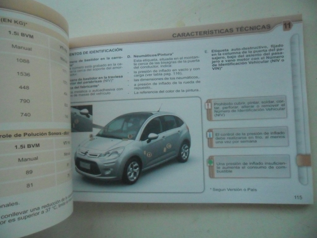 citroen c3 2011 2012 manual instrucciones del due o 330 00 en rh articulo mercadolibre com ar Citroen C3 Interior Citroen C3 1.4 HDI
