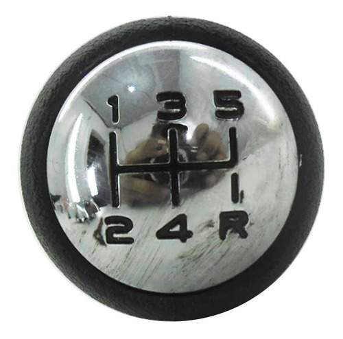 citroen c3 _ bola alavanca cambio preta / cromo até 2012