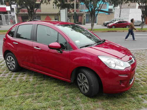 citroën c3 hatchback rojo seduction 1.2cc 2015 remato ya!!