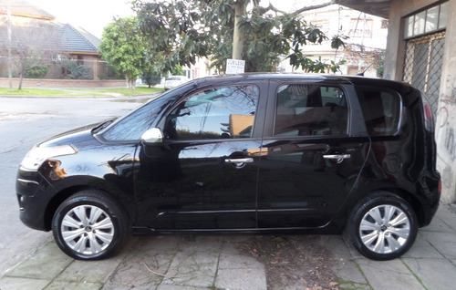 citroën c3 picasso 1.6 exclusive nav, 2012, negro, 5 pts