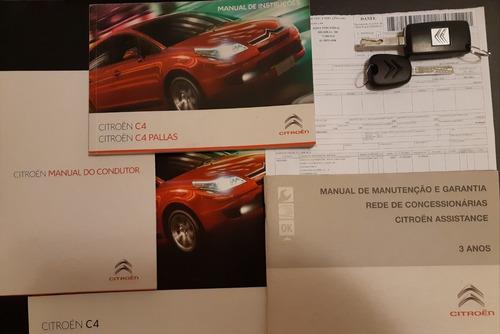 citroën c4 glx 1.6 flex mec. cinza mod. 2012 - único dono!