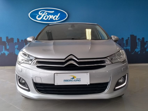 citroën c4 lounge 1.6 thp exclusive 2017 prata flex