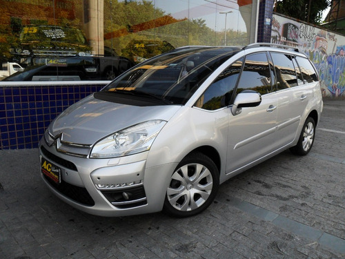 citroën grand c4 picasso 2.0 2014 prata aut 7 lug top