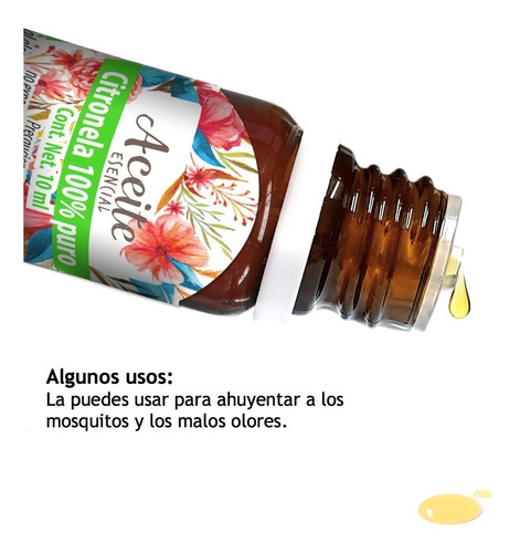 citronela aceite 10 ml esencial 100% puro 100% natural