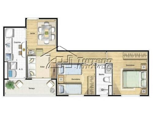 citta de roma - apt. 2 dormitórios com sacada, 1 vaga - sjcampos