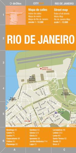 city map rio de janeiro. de dios guías de viaje.