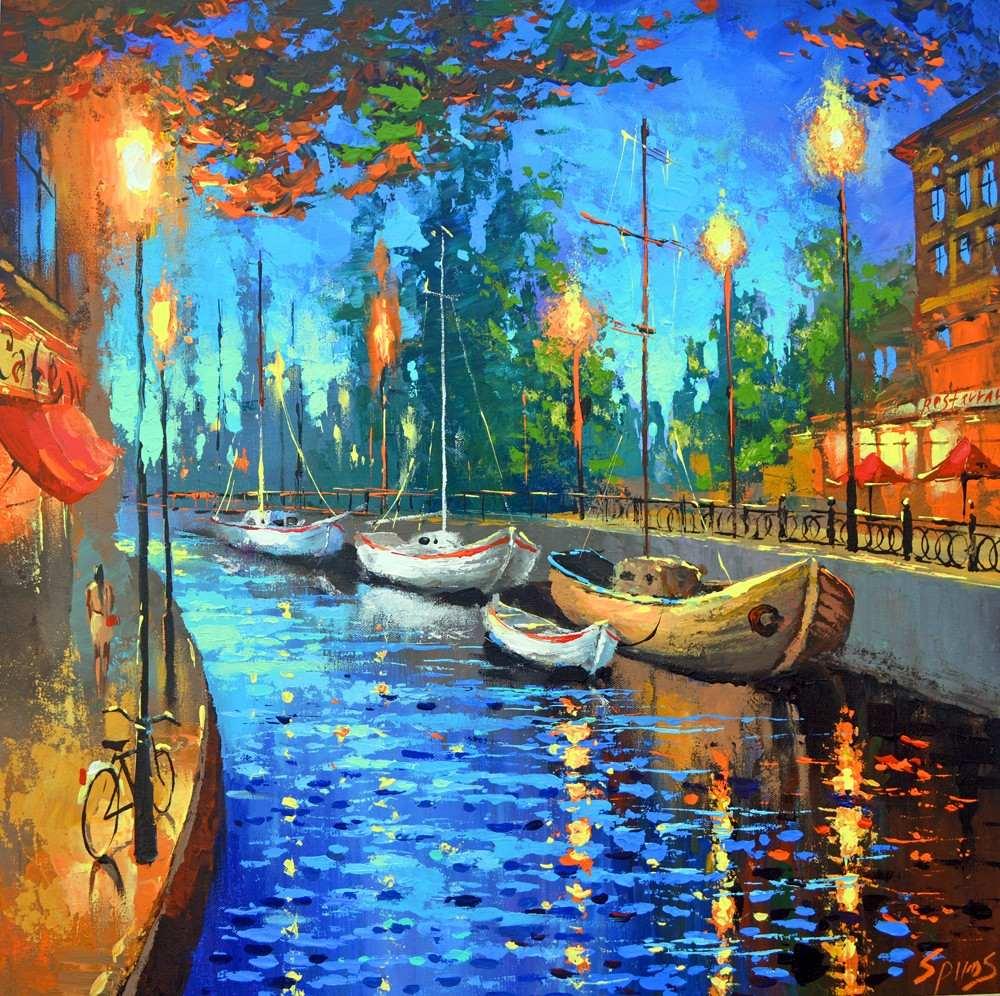 City of my dreams cuadros pinturas de dmitry spiros - Cuadros de pintura ...