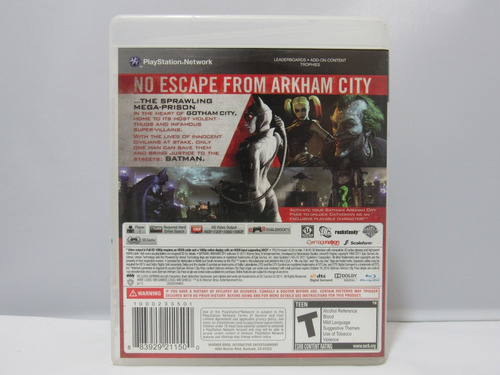 city ps3 batman: arkham