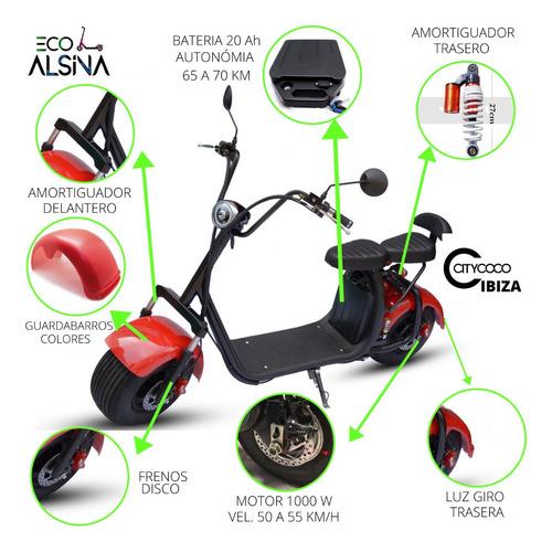 citycoco scooter electrico 1500w 55km autonomia