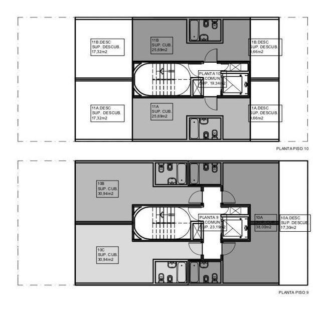 ciudad de la paz al 100 y concepcion arenal 8,66 x 21 apto 1200 m2 vendibles codigo nuevo