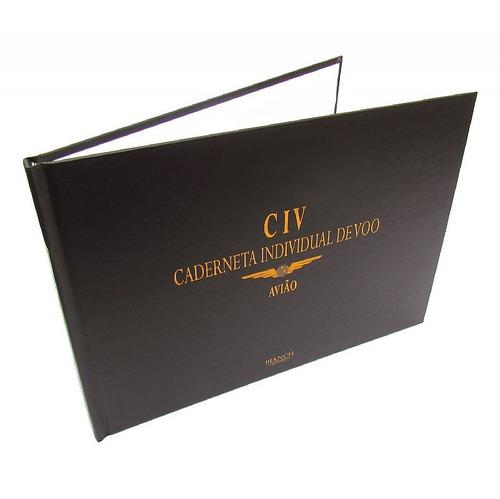 civ: caderneta individual de voo avião