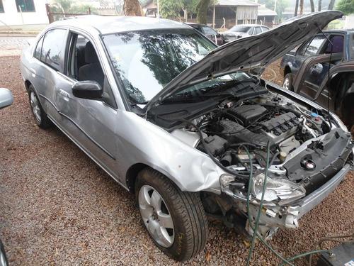 civic lx 2002 sucata peças,  motor 115 cv, cambio áutomatico