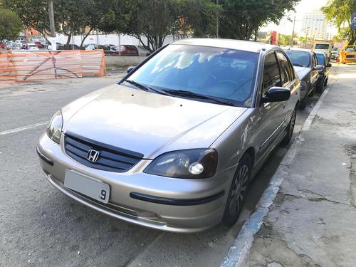 civic lx automático 1.7 gasolina completo + couro